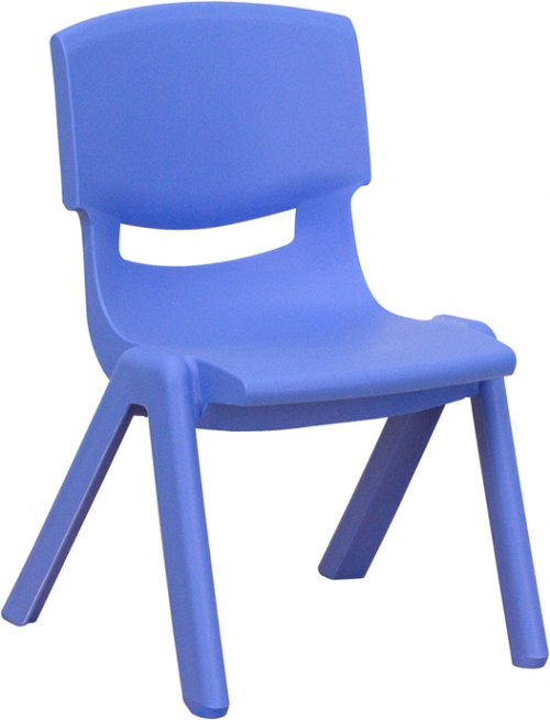 Flash Furniture Blue Plastic Stackable School Chair with 10.5'' Seat Height [YU-YCX-003-BLUE-GG]