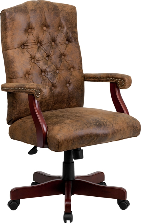Flash Furniture  Bomber Brown Classic Executive Office Chair [802-BRN-GG]