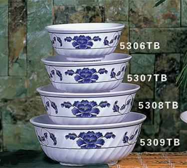 Thunder Group 5306TB Lotus Swirl Bowl 21 oz. (1 Dozen)
