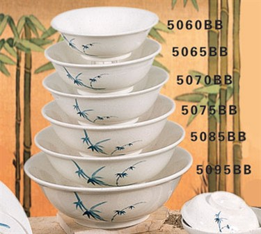 Thunder Group 5070BB Blue Bamboo Noodle Bowl 33 oz. (1 Dozen)