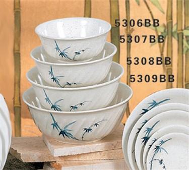 Thunder Group 5308BB Blue Bamboo Soba Bowl 48 oz. (1 Dozen)
