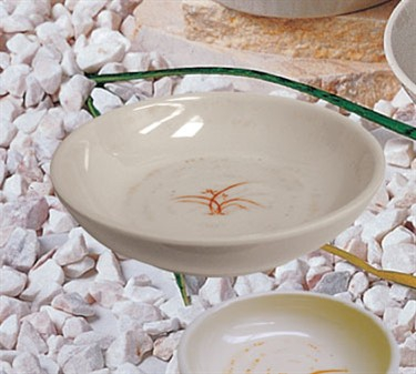 "Thunder Group 3955GD Gold Orchid Flat Bowl 5"" (1 Dozen)"