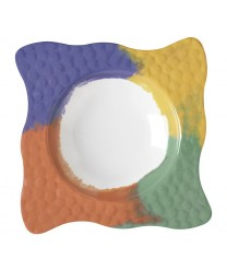 GET Enterprises B-1616-CE Las Brisas Diamond Bowl, 64 oz. (4 Pieces)