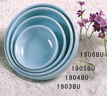 Thunder Group 1905 Blue Jade Flat Bowl 9 oz. (1 Dozen)
