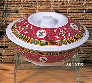 Thunder Group 8010TR Longevity Serving Bowl with Lid 75 oz.