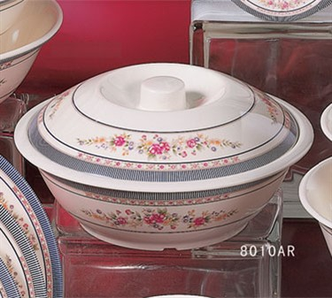 Thunder Group 8010AR Rose Bowl with Lid  75 oz.