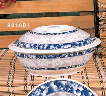 Thunder Group 8010DL Blue Dragon Bowl with Lid 75 oz.