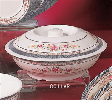 Thunder Group 8011AR Rose Bowl with Lid 80 oz.