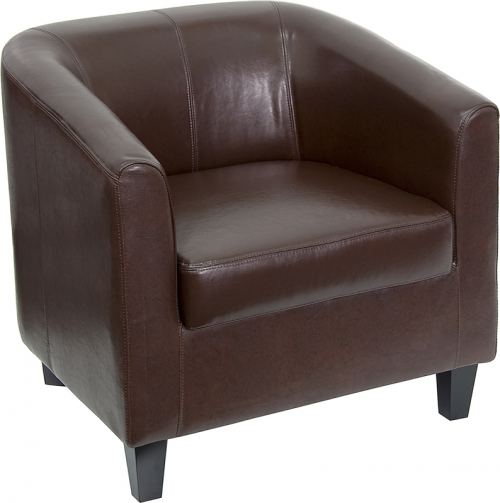 Flash Furniture  Brown Leather Office Guest Chair / Reception Chair [BT-873-BN-GG]