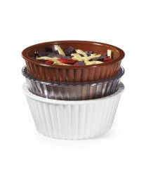 GET Enterprises ER-404-BR Brown SAN Plastic Fluted Ramekin, 4 oz. (4 Dozen)