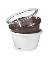 GET Enterprises ER-025-BR Brown SAN Plastic Ramekin, 2.5 oz. (4 Dozen)
