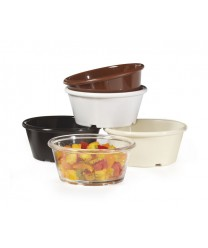 GET Enterprises ER-040-BR Brown SAN Plastic Ramekin, 4 oz. (4 Dozen)