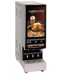 Grindmaster-Cecilware 3K-GB-LD Cappuccino Dispenser with 3 Hoppers and Lit Sign - 120V