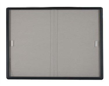 """Aarco RSB3660BL Enclosed Radius Design Directory Board with Tempered Glass Sliding Doors, Graphite Frame 36"""" x 60"""""""