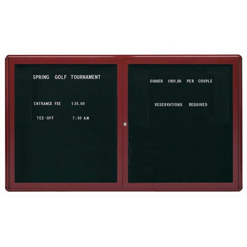 Aarco RAD3660BB Radius Design Enclosed Directory Board with Burgundy Frame 36