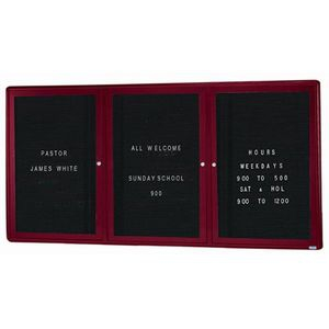 Aarco RAD3672BB Radius Design Enclosed Directory Board with Burgundy Frame 36