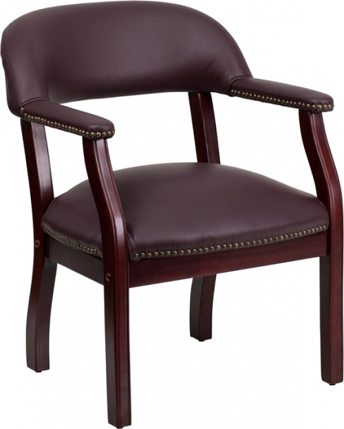 Flash Furniture Burgundy Leather Conference Chair [B-Z105-LF19-LEA-GG]