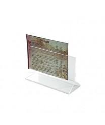 "Winco ATCH-46 Acrylic Table Card Holder 4"" x 6"""