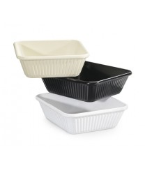 GET Enterprises ML-177-IV Ivory Melamine Casserole Dish, 3 Qt. (3 Pieces)