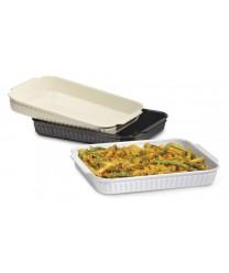 GET Enterprises ML-180-IV Ivory Oval Casserole Dish, Oval, 2.8 Qt. (6 Pieces)