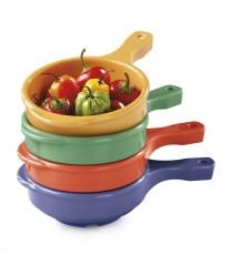 GET Enterprises HSB-112-MIX Diamond Mardi Gras Assorted Colors Soup Bowl, with Handle, 12 oz. (2 Dozen)