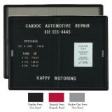 "Aarco RSD3660GB Enclosed Radius Design Directory Board with Sliding Doors and Medium Grey Frame 36"" x 60"""