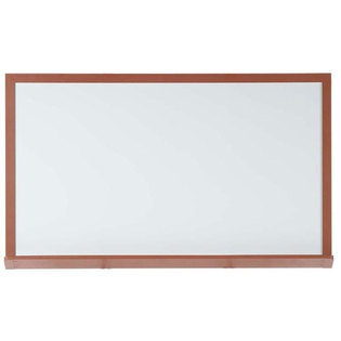 """Aarco 420WD48192 Architectural High Performance High Gloss White Porcelain Markerboard with Cherry Wood-Look Aluminum Trim 48"""" x 192"""""""