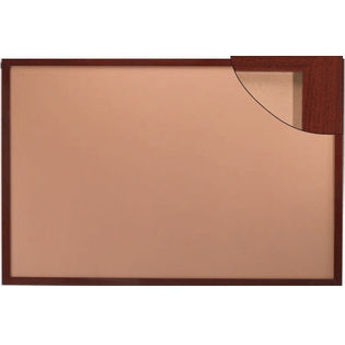 "Aarco DBW2436 Architectural High Performance Natural Pebble Grain Cork Bulletin Board with Cherry Wood Grain Look Aluminum Trim 24"" x 36"""