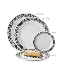 """GET Enterprises WP-12-X Diamond Chexers Wide Rim Plate, 12""""(1 Dozen)"""