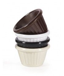 GET Enterprises F-615-BR Brown Melamine Fluted Ramekin, 1.5 oz. (4 Dozen)