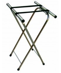 Aarco CTS Chrome Folding Tray Stand