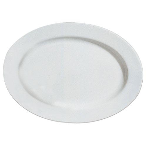 10 Strawberry Street RB0022 Classic White Oval Platter 14-1/2'' x 11'' - Case of 6