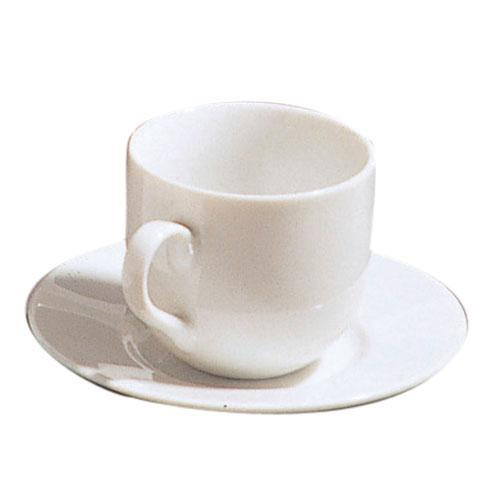 10 Strawberry Street RB0011 Classic White Ballet Demitasse Cup and Saucer 3 oz. - Case of 24