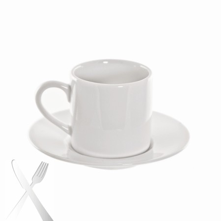 10 Strawberry Street RB0428 Classic White Can Demitasse Cup and Saucer 3 oz. - Case of 24