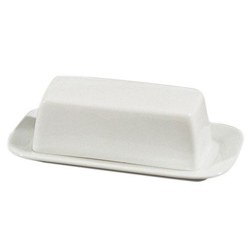 10 Strawberry Street RB0034 Classic White Covered Butter 8-3/4'' x 4-5/8'' - Case of 12