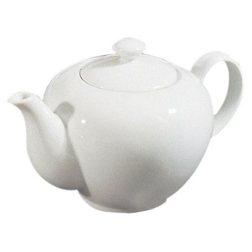 10 Strawberry Street RB0014 Classic White Teapot 36 oz. - Case of 6