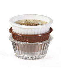 GET Enterprises ER-001-CL Clear Plastic Fluted Ramekin, 1 oz. (4 Dozen)