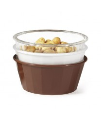 GET Enterprises ER-045-CL Clear SAN Plastic Fluted Ramekin, 4 oz. (4 Dozen)