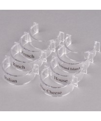 GET Enterprises CLIPS-8-CL Round Dressing Label Clips for SDB Dressing Bottles