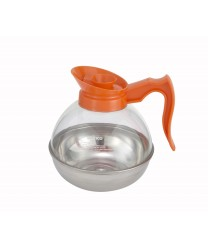 Winco CD-64O Decaf Coffee Decanter with Stainless Steel Base 64 oz.