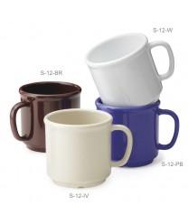 GET Enterprises S-12-PB Peacock Blue Coffee Mug, 12 oz. (2 Dozen)