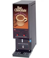 Grindmaster-Cecilware GB2HC-CP Hot Chocolate Dispenser with 2 Hoppers - 120V