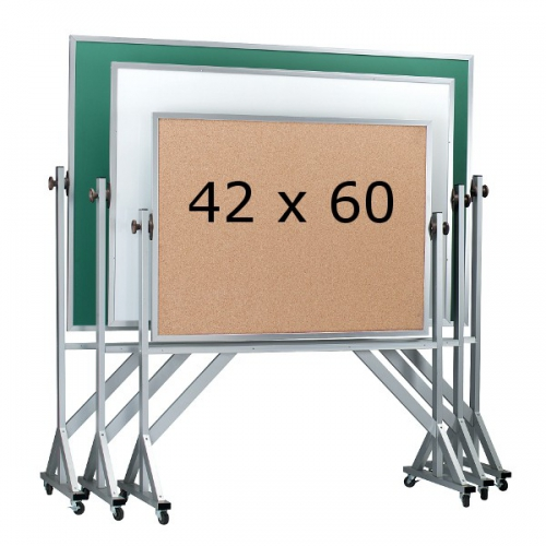 Aarco ARC4260  Reversible Free Standing Chalkboard with Wood Frame 42