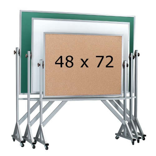 Aarco ARC4872 Reversible Free Standing Chalkboard with Wood Frame  48