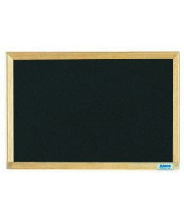 Aarco EC1218B Economy Series Black Composition Chalkboard with Wood Frame 12