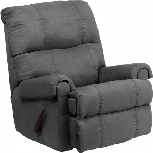 Flash Furniture Contemporary Flatsuede Graphite Microfiber Rocker Recliner [WM-8700-113-GG]