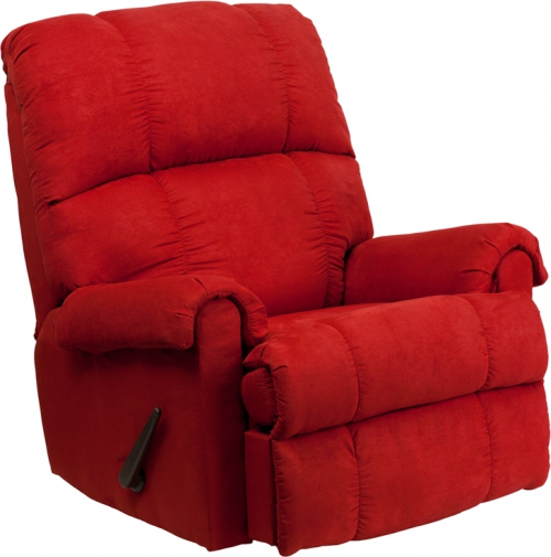 Flash Furniture Contemporary Flatsuede Red Rock Microfiber Rocker Recliner [WM-8700-216-GG]