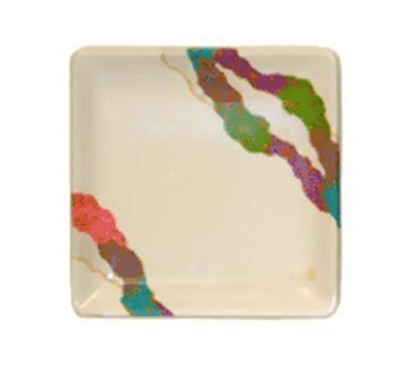 GET Enterprises 252-18-CO Contemporary Japanese Square Petite Plate 7