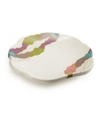 """GET Enterprises 139-CO Contemporary Japanese Scallop Shape Plate, 8""""(1 Dozen)"""