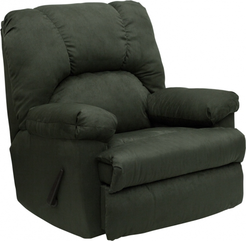 Flash Furniture Contemporary Montana Loden Microfiber Suede Rocker Recliner [WM-8500-266-GG]